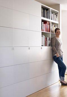 Home office design interior ikea hacks 66 New ideas Hallway Storage, Ikea Storage, Living Room Storage, Wall Storage, Storage Ideas, Hallway Closet, Storage Hacks, Kitchen Storage, Office Interior Design