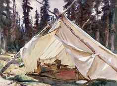 John Singer Sargent, A Tent in the Rockies, 1916