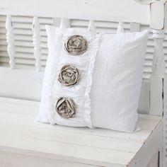 rose linen pillow
