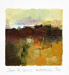 jan082012 | oil on canvas 9 cm x 9 cm hiroshi matsumoto www.… | Flickr