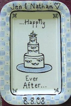 Ceramic Wedding Platter by CeramicDreamsGifts on Etsy, $65.00