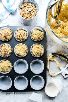 This easy lemon poppy seed muffin recipe gets a healthy boost with almonds and yogurt to make a moist muffin everyone will declare the very best. Granola Bars Peanut Butter, Lemon Poppyseed Muffins, Muffin Recipes, Almonds, Kids Meals, Snacks, Breakfast, Sweet, Desserts