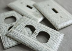 7 Ways To Decorate and DIY With Newspaper--Could also be done with a favorite book or particular favorite bible verses
