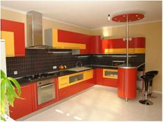 Spicy Designs For Indian Kitchens Http Www Urbanhomez Com Decor L Shaped