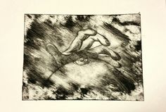 'Touch' 2 of 3 Series 2 of 3 A4 Drypoint print