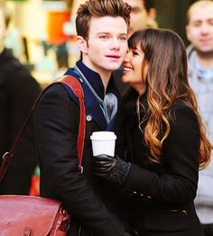 Such a wonderful moment from Glee. Curt and Rachel in NYC!