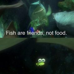 1000 images about finding nemo on pinterest finding for Fish are friends not food