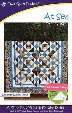 At Sea Quilt Pattern Cozy Quilt Designs - consider Blitzen Jelly Roll - Lrg Throw 66 x 83