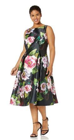 9 plus size floral dresses for formal events Plus Size Dress Outfits, Curvy Outfits, Nice Dresses, Casual Dresses, Dresses For Work, Dresses For Formal Events, Curvy Dress, Plus Size Fashion, Adrianna Papell