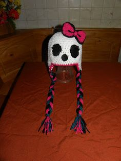 Brissy's Boutique: Monster High Skull Hat by Brissy's Boutique