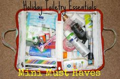 Bella Rae Blabber: Holiday toiletry essentials: Mini must haves