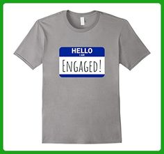 Mens Hello I am Engaged Wedding Engagement Announcement T-Shirt Small Slate - Wedding shirts (*Amazon Partner-Link)