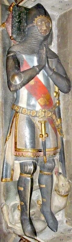 Effigy of Peter de Grandisson, Hereford Cathedral, 1358. -- See more at: http://www.themcs.org/armour/14th%20century%20armour.htm