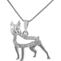 Jewel Exclusive Sterling Silver Boston Terrier Diamond Necklace... ($30) ❤ liked on Polyvore featuring jewelry, pendants, multi, pendant jewelry, diamond pendant, dog jewelry, sterling silver pendant and sterling silver jewelry