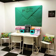 Love the PSA Essentials Booth at the National Stationery Show, photo via-Poppytallk