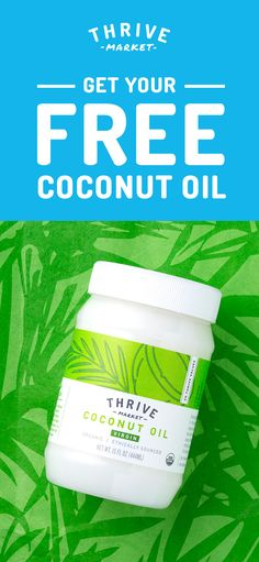 What's so great about coconut oil? Pretty much everything. Discover Thrive Market today for 25-50% off healthy groceries PLUS get a FREE jar of organic Coconut Oil!