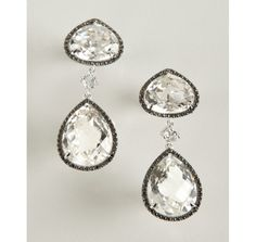 Doron Paloma black diamond and white topaz 'Midnight Rocks' drop earrings