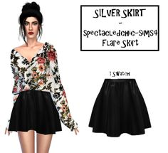 Flare Skirt Recolor for The Sims 4