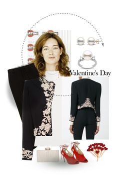 """Valentine's  Day Style! contest"" by gagenna ❤ liked on Polyvore featuring Diane Von Furstenberg, Versace, Jimmy Choo, Phase Eight and vintage"