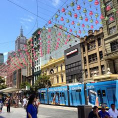 Melbourne tram and Xmas lights in Chinatown - @patriciagajo- #webstagram