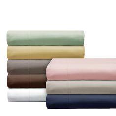 Elle 1000 Thread Count Cotton-rich Pinstripe 4-piece Sheet Set