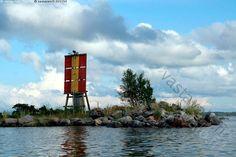 Linjamerkki - Linjamerkki linjataulu saari kari meri merimerkki väylä kivinen Merenkurkku Raippaluoto merenkulku