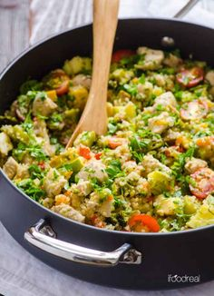 Chicken and Garden Veggies Skillet