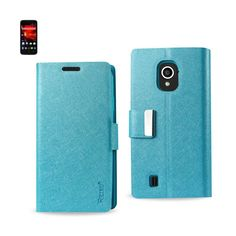 Reiko Magnetic Closure Flip Case ZTE Source N9511 Blue