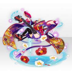 Yokai Mischievous Oni Girl Floating in Air Style ver. Cosplay Outfits, Anime Outfits, Kimono Fashion, Cute Fashion, Hats Short Hair, Yuki Onna, Chibi Hair, Play Clothing, Anime Dress