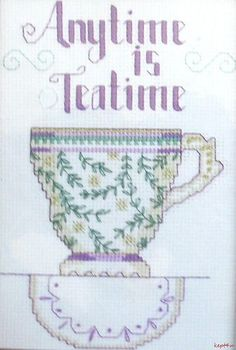 Designs for The Needle Tea Cup Counted Cross Stitch Kit VTNS Teatime @C99SALE #eBay