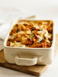 : Low Fat Baked Ziti with Spinach | Pizza & Pasta | Pinterest | Baked ...