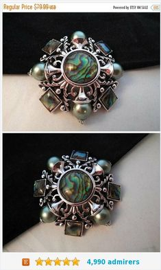 ON SALE #Joan #Rivers Signed #Maltese #Cross Pin, Vintage Blue Green Silver #Brooch, Faux Pearl & Abalone Shell Collectible 1980's 1990's #Jewelry https://www.etsy.com/MartiniMermaid/listing/598342059/on-sale-joan-rivers-signed-maltese-cross?ref=shop_home_active_5