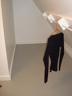Hanging closet rod from sloped ceiling.  i like to maximize space for both closets in boys room.  lmh