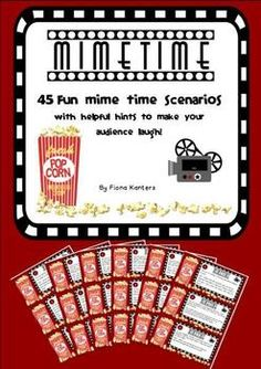 Drama mime time scenarios for a time filler and a laugh!