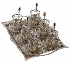 Thé Tasse à Café Tapis turc//Persan Design Pattern Lot de 4 verre Coasters