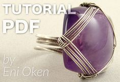What can you do with a gorgeous square cabochon? Learn how to make this elegant woven ring, no solder and ...