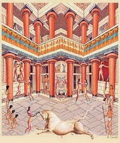 High Priestess throne room at Knossos, Crete Ancient Rome, Ancient Greece, Ancient Art, Ancient History, Ancient Greek Architecture, Art And Architecture, Knossos Palace, Minoan Art, Bronze Age Civilization
