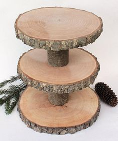 This listing is for 3 Tiered Rustic Cupcake Stand. Wood slabs and logs have been dried, sanded on both sides. Wood Cupcake Stand, Rustic Cupcake Stands, Rustic Cupcakes, Cupcake Stand Wedding, Wood Cake Stands, Wood Tiered Stand, 3 Tier Cake Stand, Wedding Cake Rustic, Rustic Cake