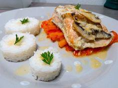 Recette Plat : Papillotes de saumon au lait de coco-gingembre et ses petits légumes par Micheline06
