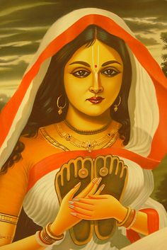 GODDESS BHAVANI: In Hindu mythology, Goddess Bhavani is considered to be the violent incarnation of Goddess Shakti or Devi. Notwithstanding she is also Karunaswaropini and 'karunai'means mercy. Lakshmi Images, Radha Krishna Love, Radha Krishna Pictures, Radhe Krishna, Radha Rani, Shree Krishna, Indian Women Painting, Indian Art Paintings, Indian Artwork
