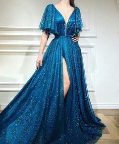 A-line Floor-length Sequined Prom Dress, Unique Sweetheart Long Prom Dresses - Style Evening Dresses Unique Prom Dresses, Elegant Dresses, Pretty Dresses, Awesome Dresses, Affordable Dresses, Wedding Dresses, Beautiful Gowns, Designer Dresses, Ball Gowns