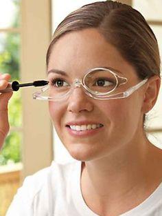Magnifying glasses for applying makeup.
