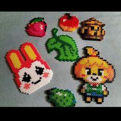Animal Crossing perler beads by giantshawk