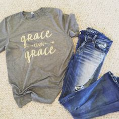 Grace upon Grace Vintage Tee by BirdawgBoutique on Etsy https://www.etsy.com/listing/271103347/grace-upon-grace-vintage-tee