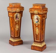 - A Pair of Pedestals in the Louis XVI Manner