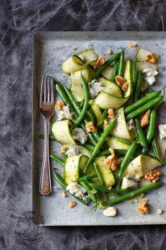 salatka z cukinii i zielonej fasolki Chilli, Orzo, Green Beans, Vegetarian Recipes, Salads, Vegetables, Blog, Diet, Veg Recipes