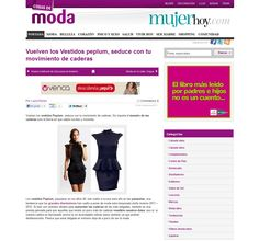 Vestido Peplum en Mujer Hoy (diciembre 2011)  http://www.barbarella.es/tiendabarbarella/