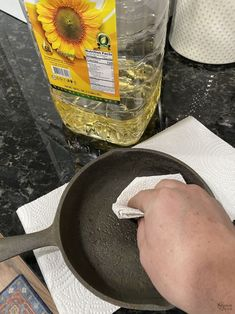 How to Restore a Cast Iron Pan   How to Season a Cast Iron Pan   How to remove rust from cast iron   The easy way to restore a pan   How to clean rusty cast iron   Easy rust remover   The right way to season a pan   Simple trick for removing rust from a cast iron pan   DIY Cast Iron Pan restoration   #TheNavagePatch #CastIron #RustRemoval #HowTo #Tutorial   TheNavagePatch.com Removing Rust, How To Remove Rust, Cleaning Rusty Cast Iron, Searing Meat, Seasoning Cast Iron, Cooking Tomatoes, Acidic Foods, Iron Pan, Dressing Recipe