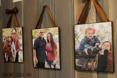 DIY Wood Picture Block Mod Podge, wood, ribbon, EASY. SohoSonnet Creative Living