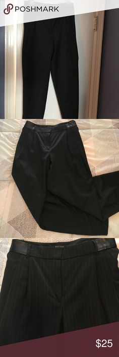 Taper ankle length pants Worn only once, excellent condition White House Black Market taper ankle pants with pinstripes. Pleat in the front. Excellent for the office or night on the town! White House Black Market Pants Ankle & Cropped